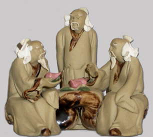 Figurine 3 personnages brut
