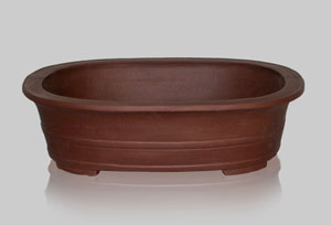 Pot oval brut 400 mm